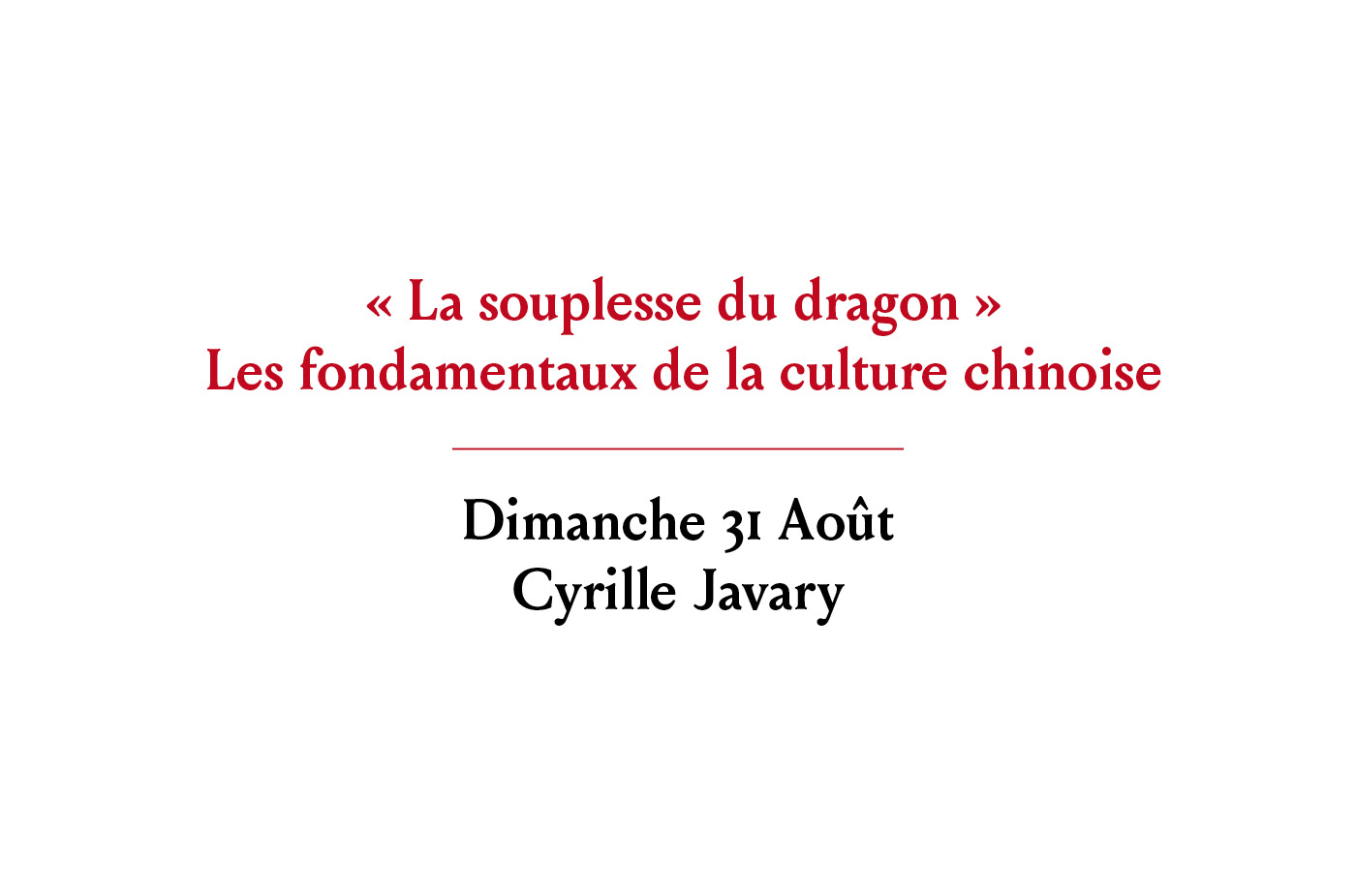 Rencontre avec Cyrille Javary